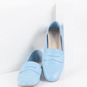 Ежедневни дамски обувки в син цвят-488001