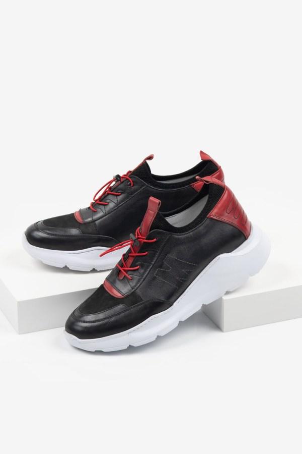 Мъжки спортни обувки в черен цвят-28Спортни мъжки обувки18
