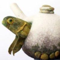 fish teapot felt