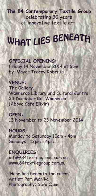 2 What lies beneath exhibition invitation 2014
