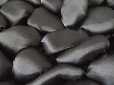 Rocks - heat set satin shibori style