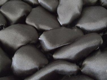 Rocks - heat set satin shibori style