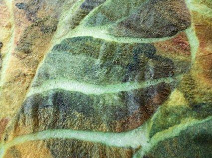 Distressed silk