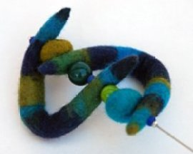 Hand felted jewellery