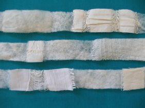 Cut up sari nuno pre-felt