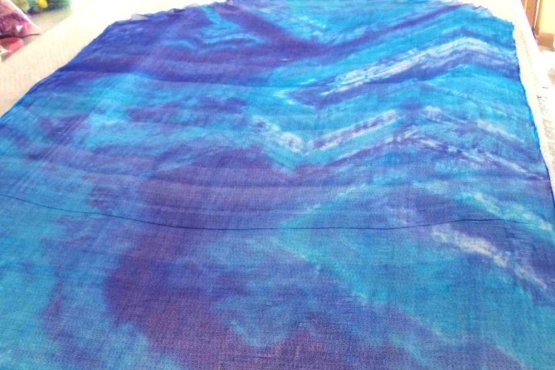 dyed silk gauze