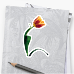 Flower stickers - tulip flower