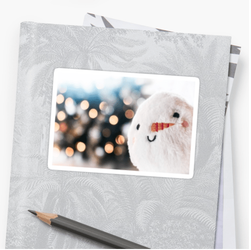 Christmas snowball stickers