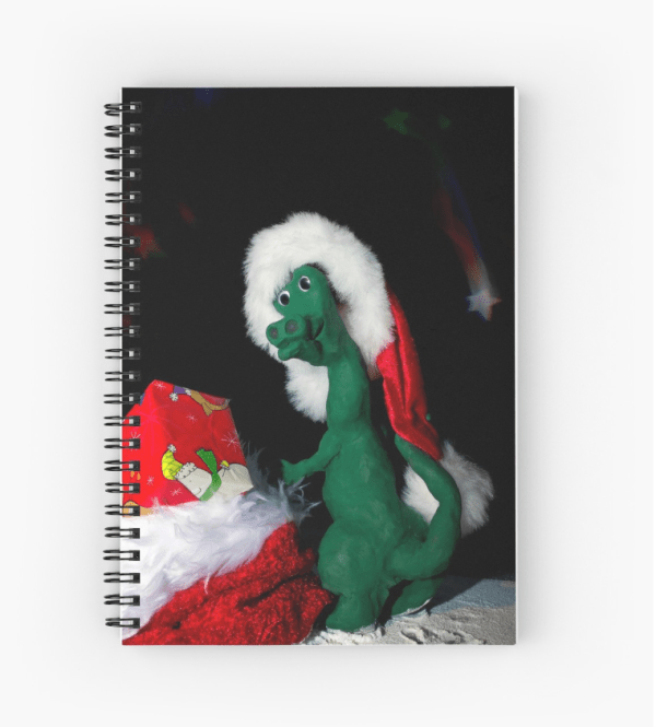 christmas dinosaur notebook stocking filler