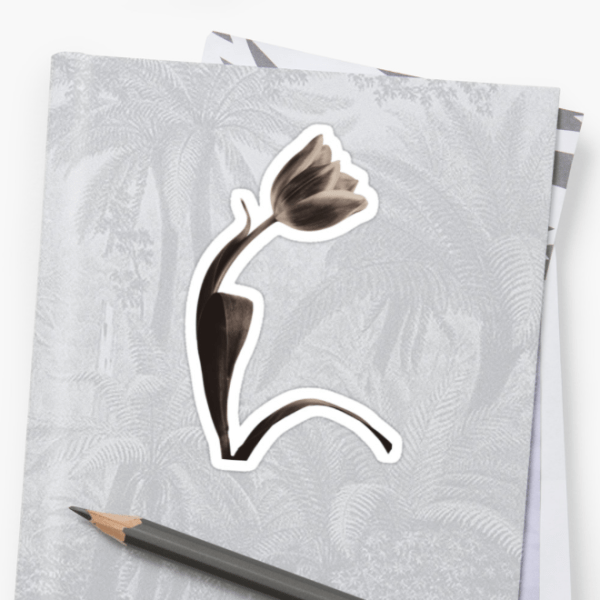 Sepia Tulip stickers