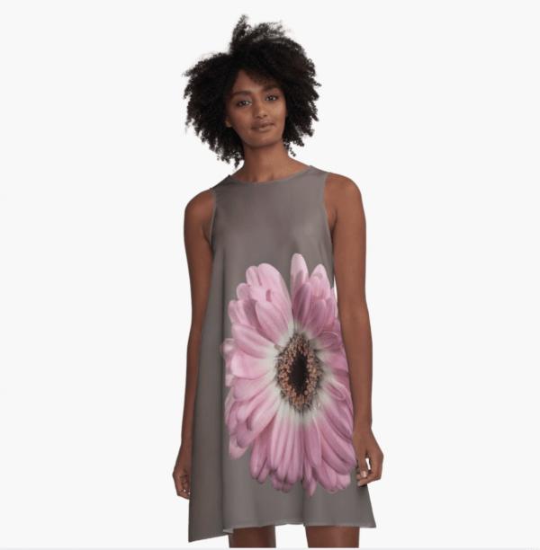 pink gerbera aline dress