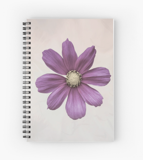 Cosmos flower notebook