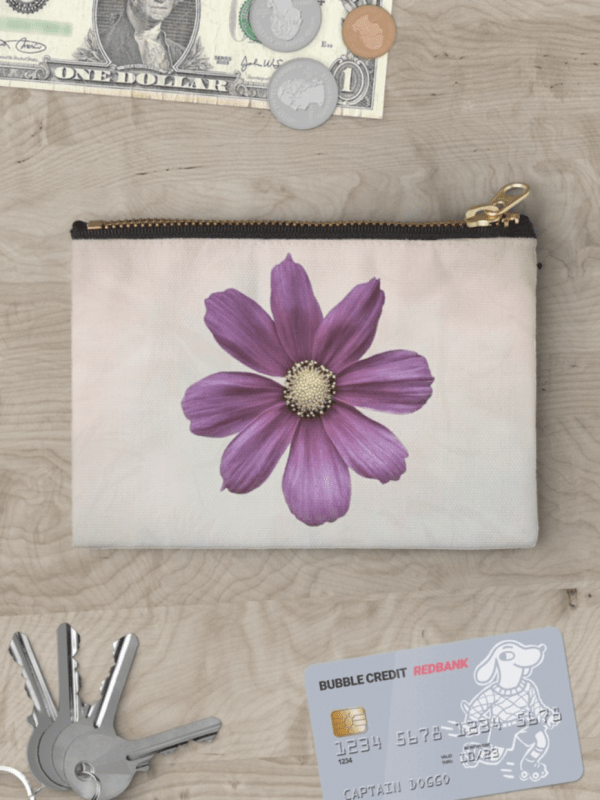 Cosmos flower studio pouch - small