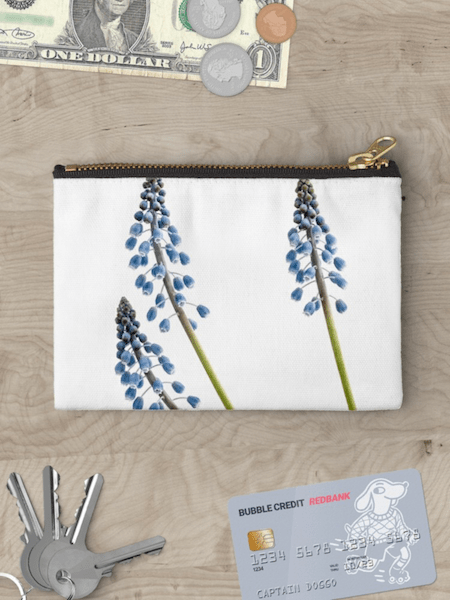 Grape Hyacinth Flower Studio Pouch