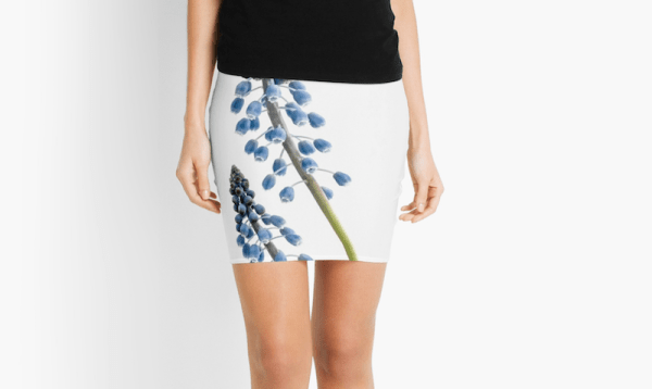 Grape Hyacinth flower Skirt