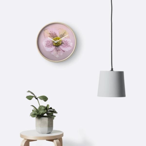 Hellebores Flower Wall Clock