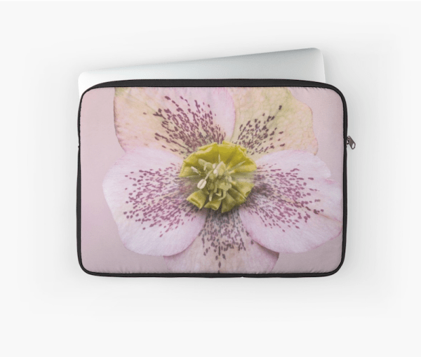 Hellebores Flower laptop sleeve