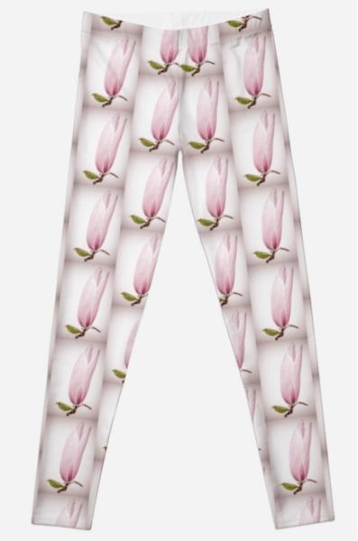Magnolia Flower Leggings