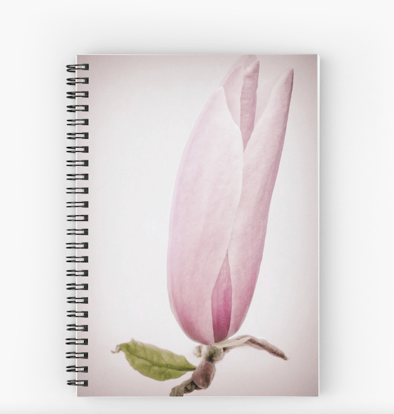 Magnolia flower notebook