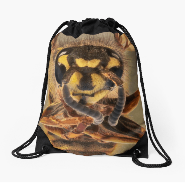 Bee Drawstring Bag