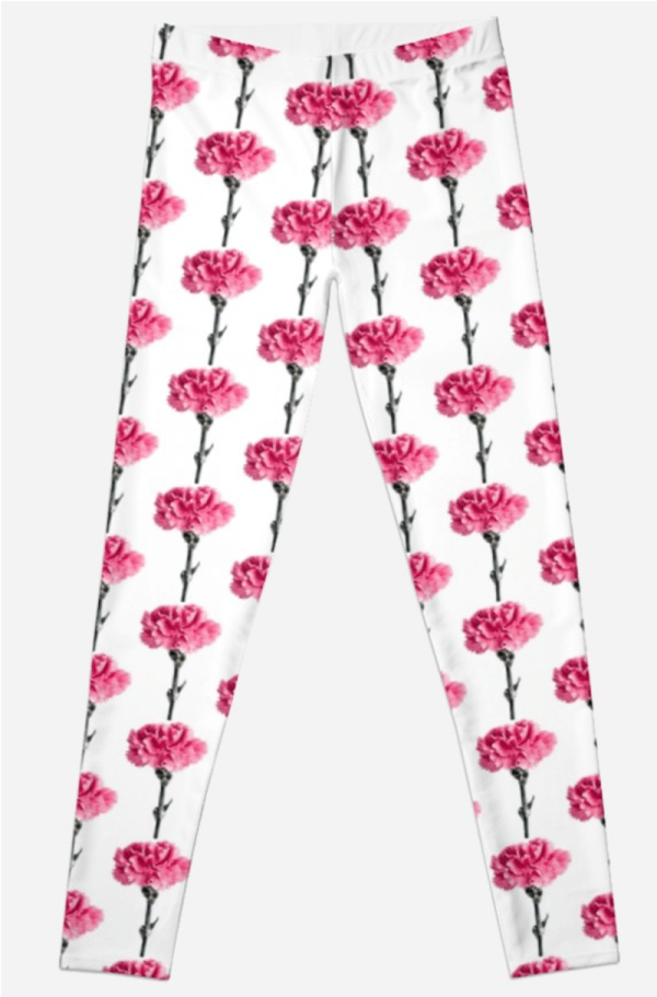 Carnation Flower Leggings