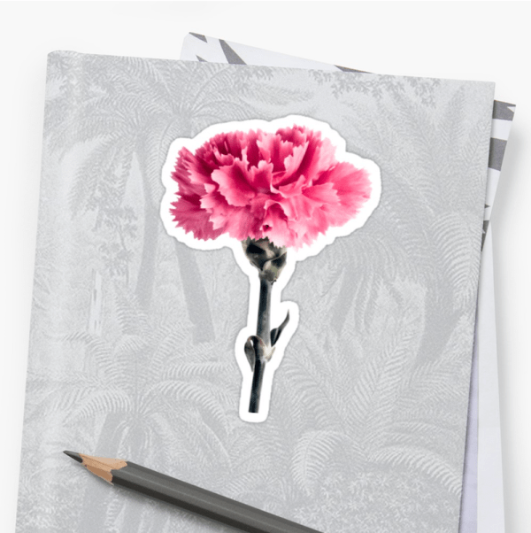 Carnation Flower Stickers - small