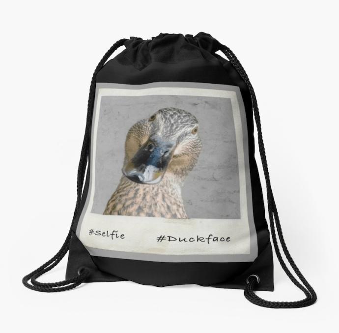 #duckface Drawstring Bag