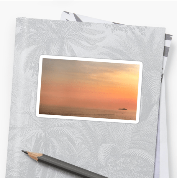 Dubrovnik sunset stickers - small