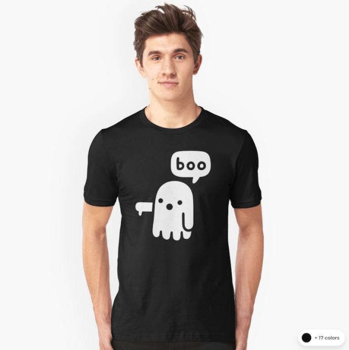 """""""boo"""" T-shirt"""
