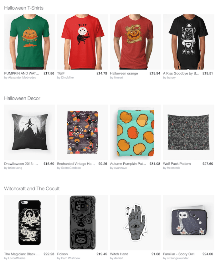 Halloween with Redbubble
