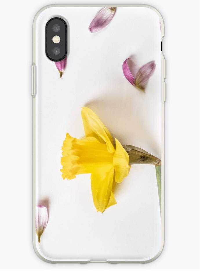 Spring flower photography daffodil phone case