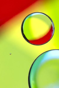 Abstract oil on water photography