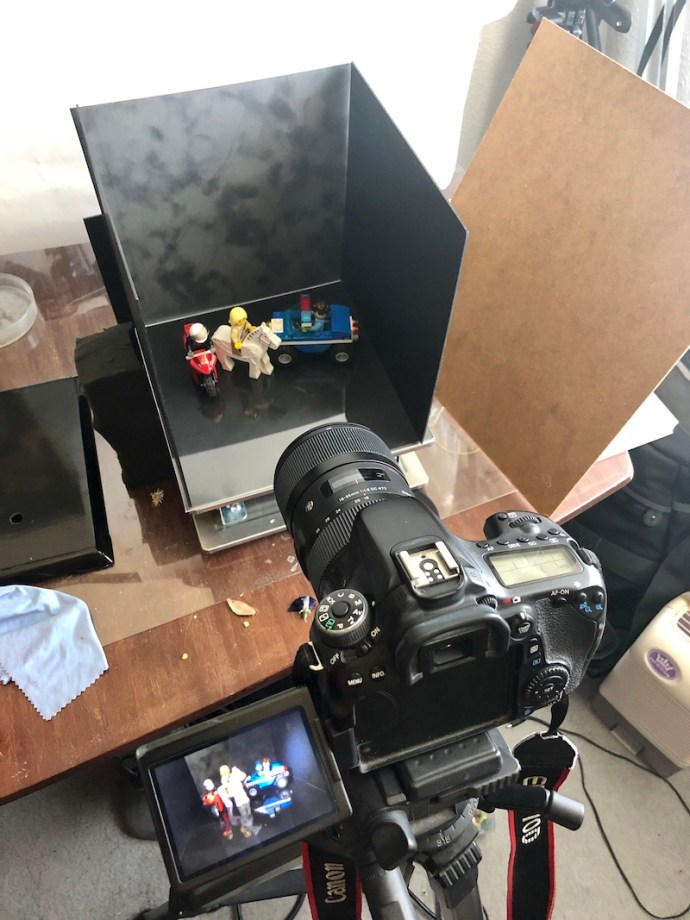 Behind the scenes look at my lego photography