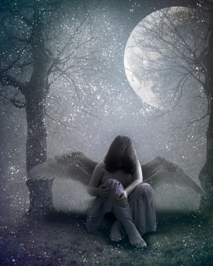 Winter inspired art - angel