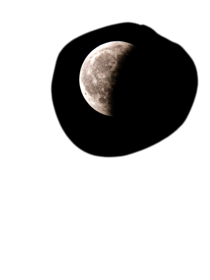moon cut out and added to composite image