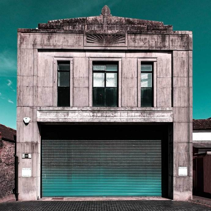 An art deco garage I discovered on my photo walk in Worthing.