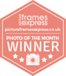 Picture frames express competition winner badge