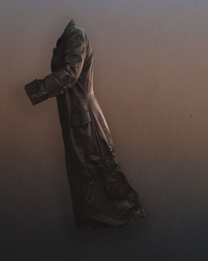 April art - a floating coat for material week in the 52 frames project