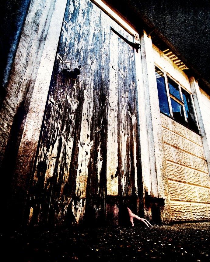 Creepy door image for June 52 frames project