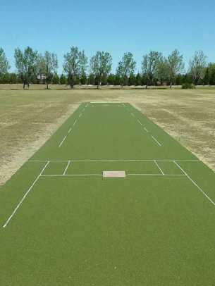 New batting surface ready for the first match