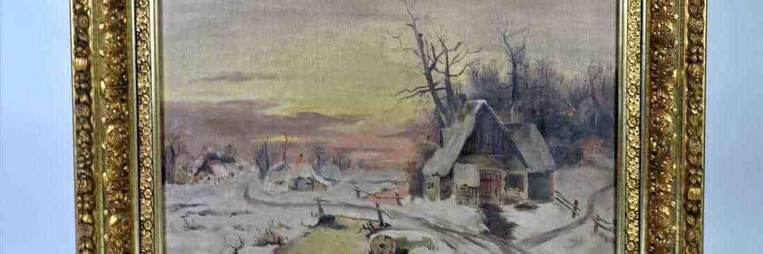 Antique 19th C Luminist Landscape