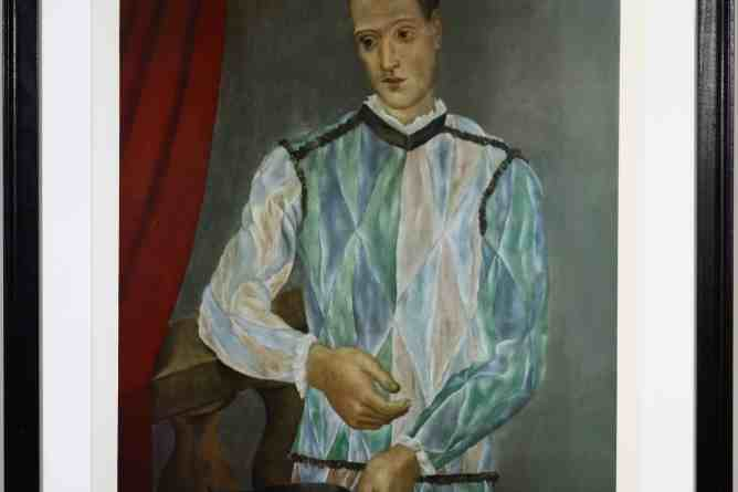 Picasso, Pablo (1881-1973 Spanish) ''Harlequin from the Barcelona suite'' 1966
