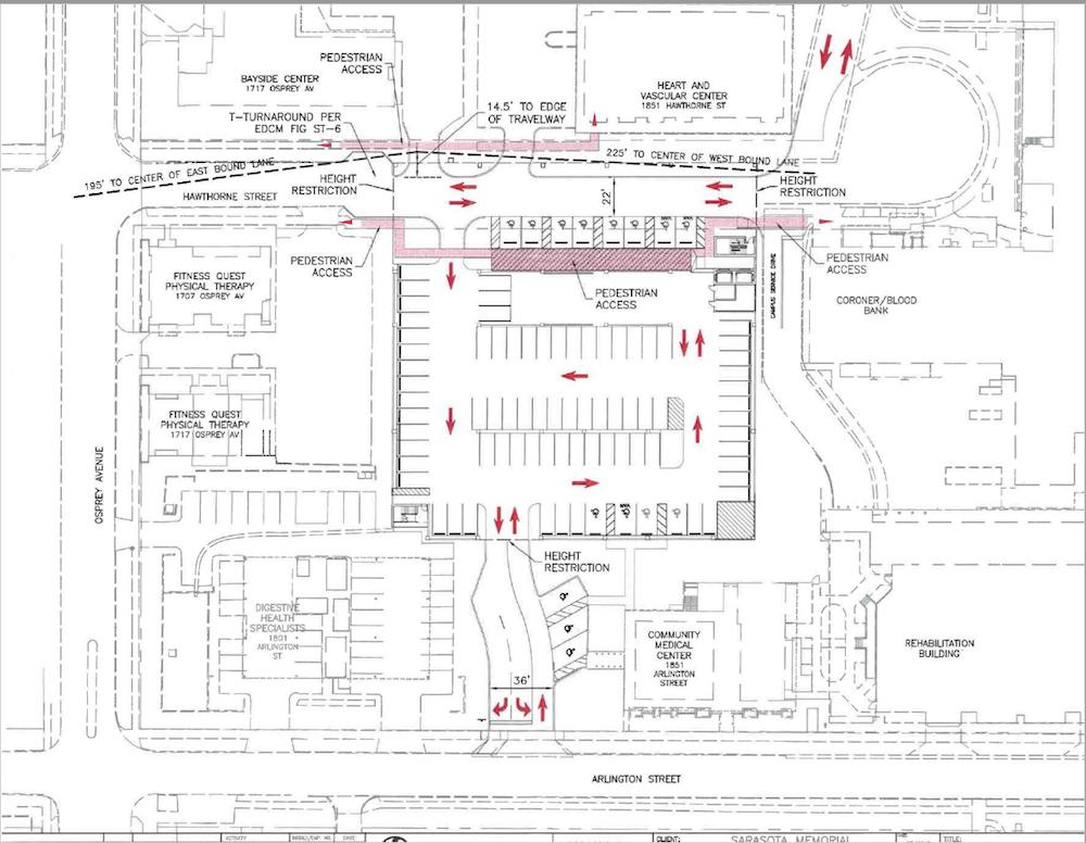 Plan for new parking garage for Sarasota Memorial Hospital