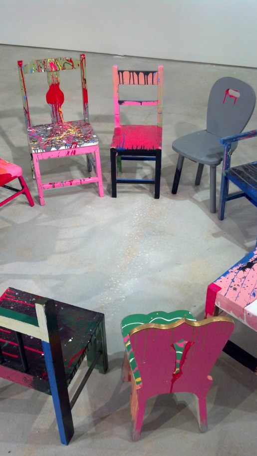 Second-Hand Childhood, by Don Florence Photo, partial view of children's chairs in a circle