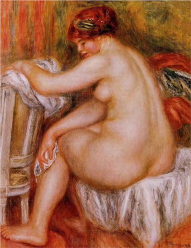 Pierre-Auguste Renoir, Seated Nude, 1913, oil on canvas, private collection