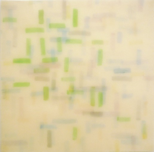 """Michael Solomon, Memoria de Seville, 2012, watercolor on papers infused with epoxy, mounted on panel, 36"""" x 36"""""""