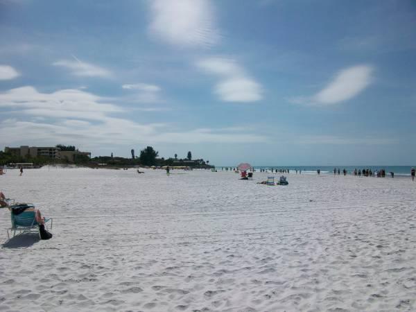 Crescent Beach Has The Same Crystal White Sand as Siesta