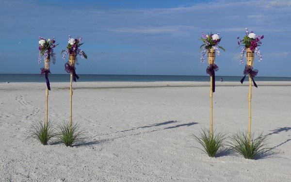 Richly Designed Purple Tiki Decorations