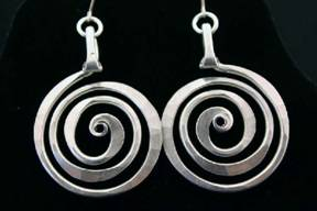 Circle Spiral Earrings, large