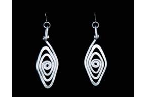 Spiral Eye Earrings